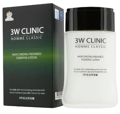 "Увлажняющий лосьон для мужчин ""Homme classic Moist. Freshness Essential Lotion"", 3W Clinica, 150 мл, Ю.Корея"