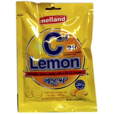 "Леденцовая карамель ""LEMON C"", Melland, 100 гр, Ю.Корея"